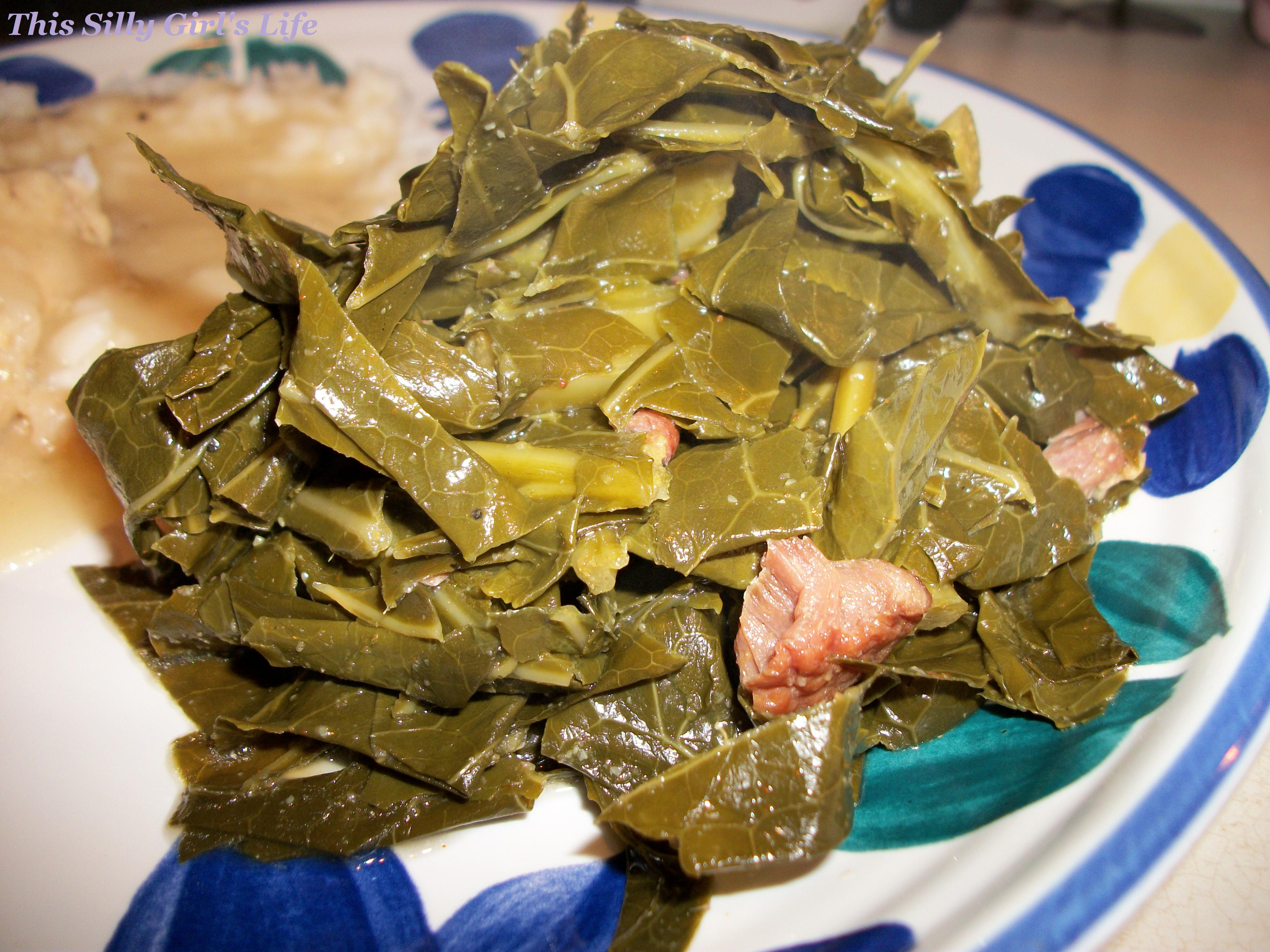 Southern Style Collard Greens - This Silly Girl's Kitchen