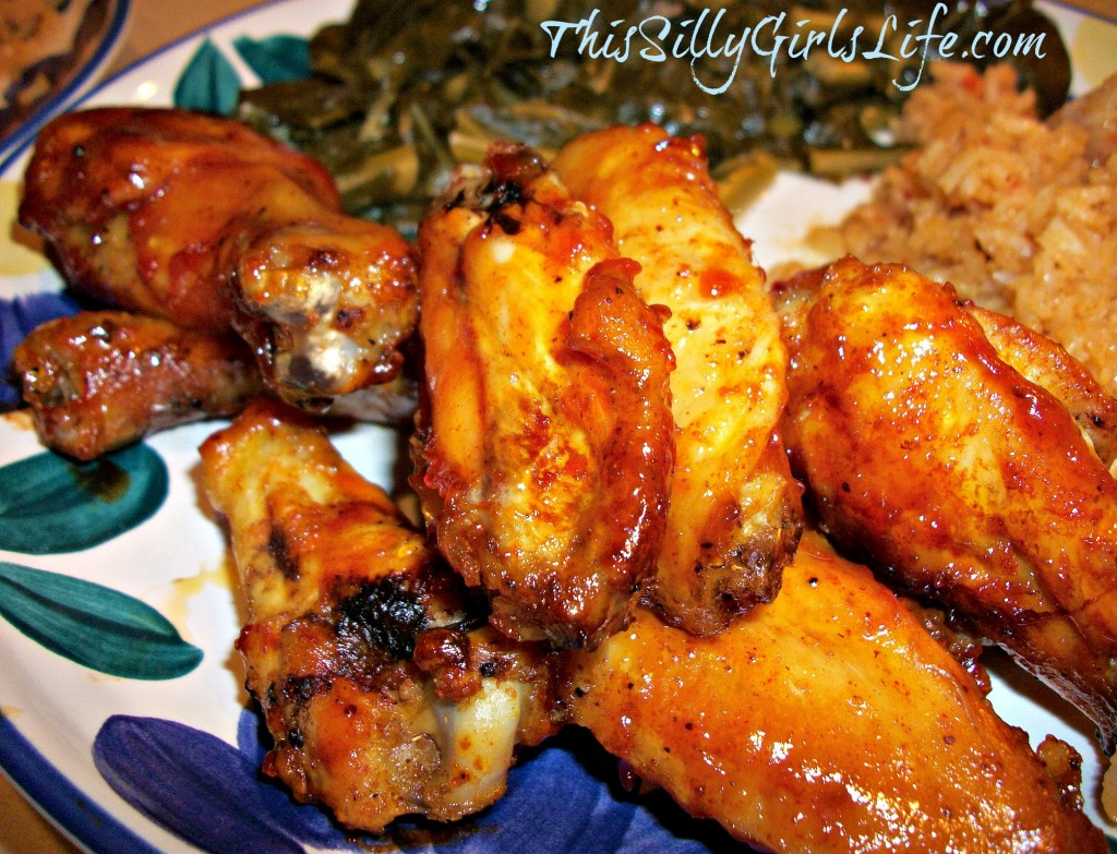 Baked BBQ Wings ThisSillyGirlsLife.com