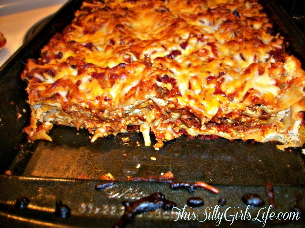 Lasagna Cooked Layers