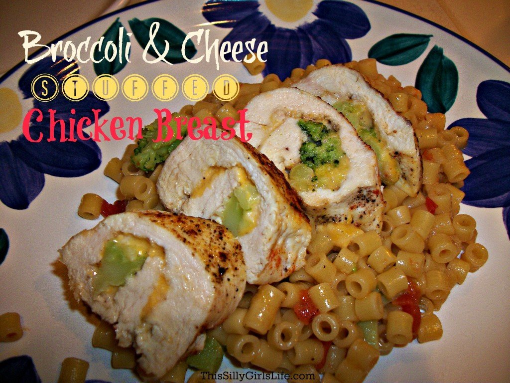 Broccoli and Cheese Stuffed Chicken Breast from ThisSillyGirlsLife.com