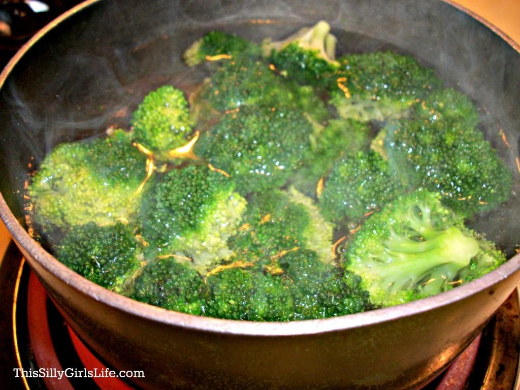 blanching veggies