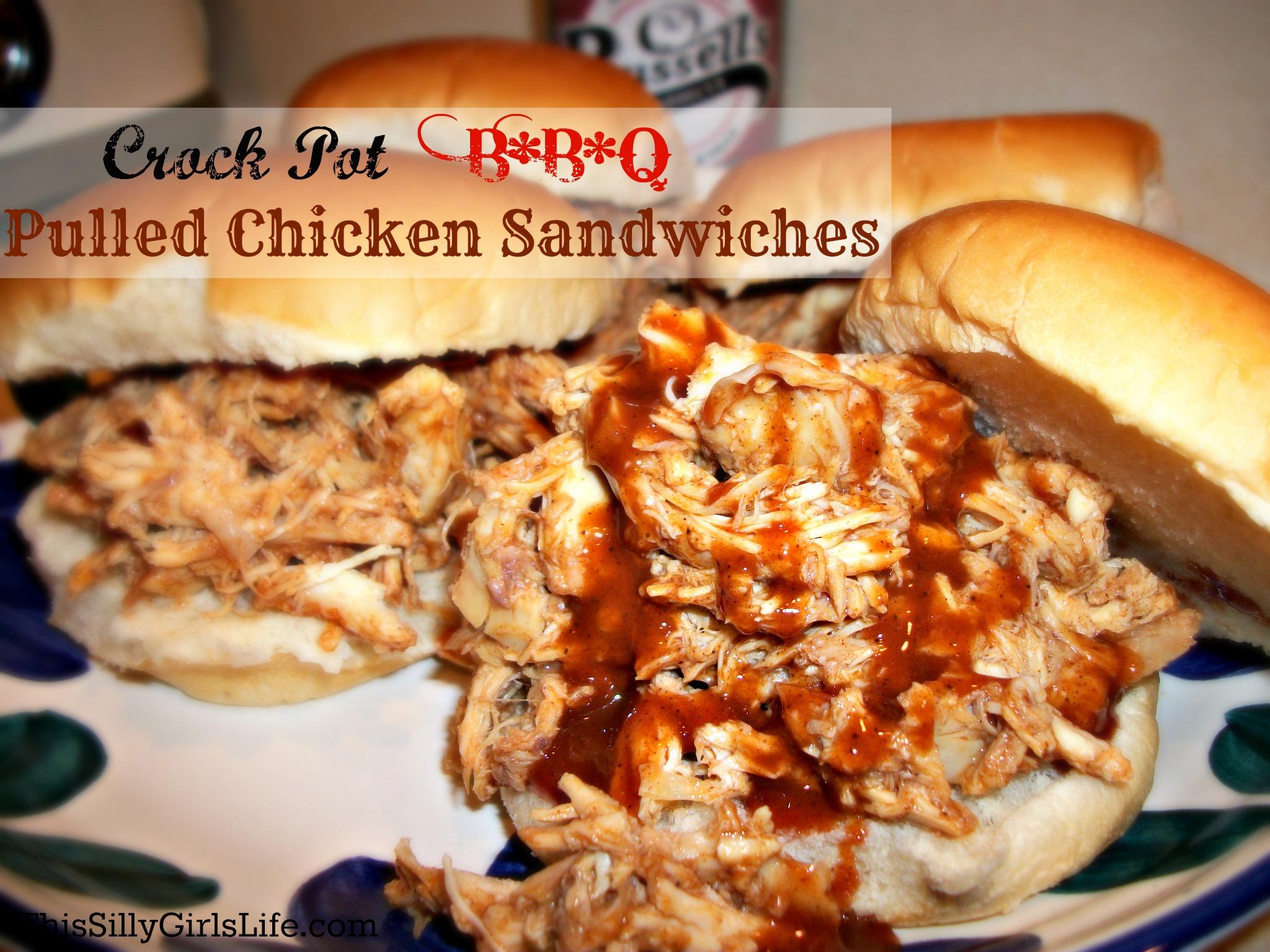 Crock Pot BBQ Pulled Chicken Sandwiches