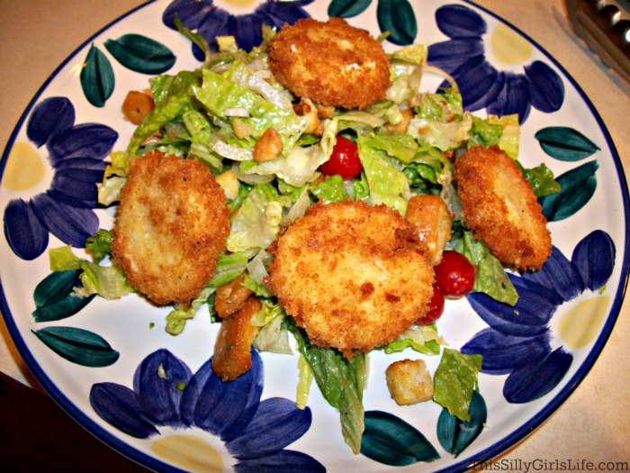 Fried Goat Cheese Salad with Mustard-Herb Vinaigrette - This Silly ...