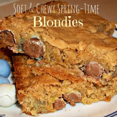 Soft & Chewy Spring-Time Blondies