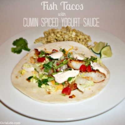 Fish Tacos with Cumin Spiced Yogurt Sauce