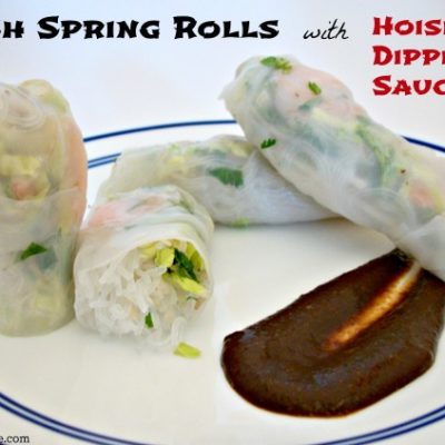 Fresh Spring Rolls with Hoisin Dipping Sauce