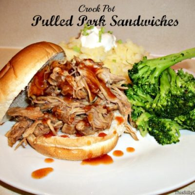 Crock Pot Pulled Pork Sandwiches