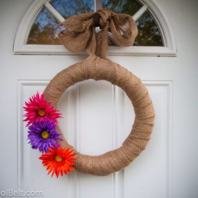 Summer Burlap Wreath {Guest Post}