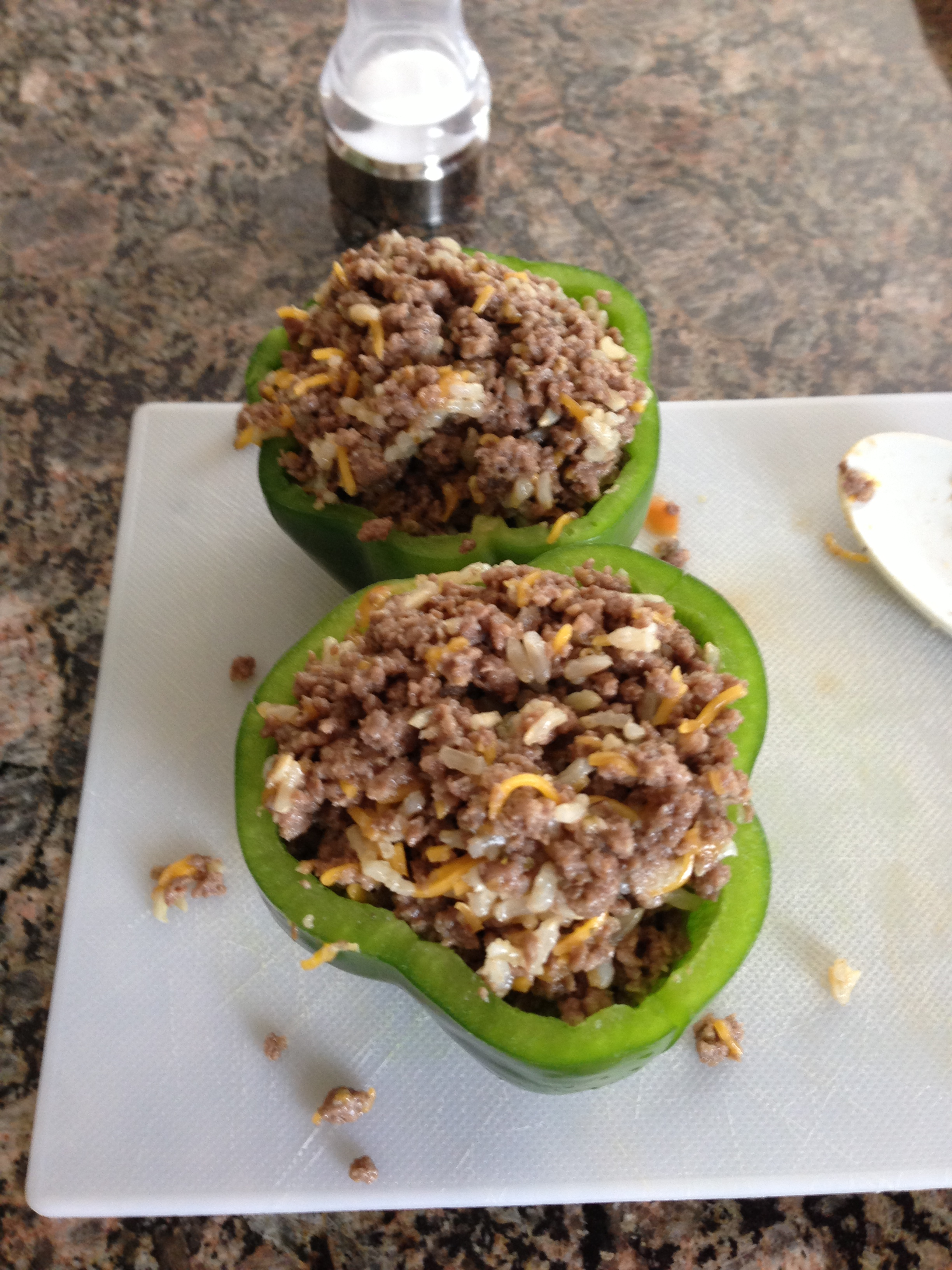 Hot Stuffed Green Peppers