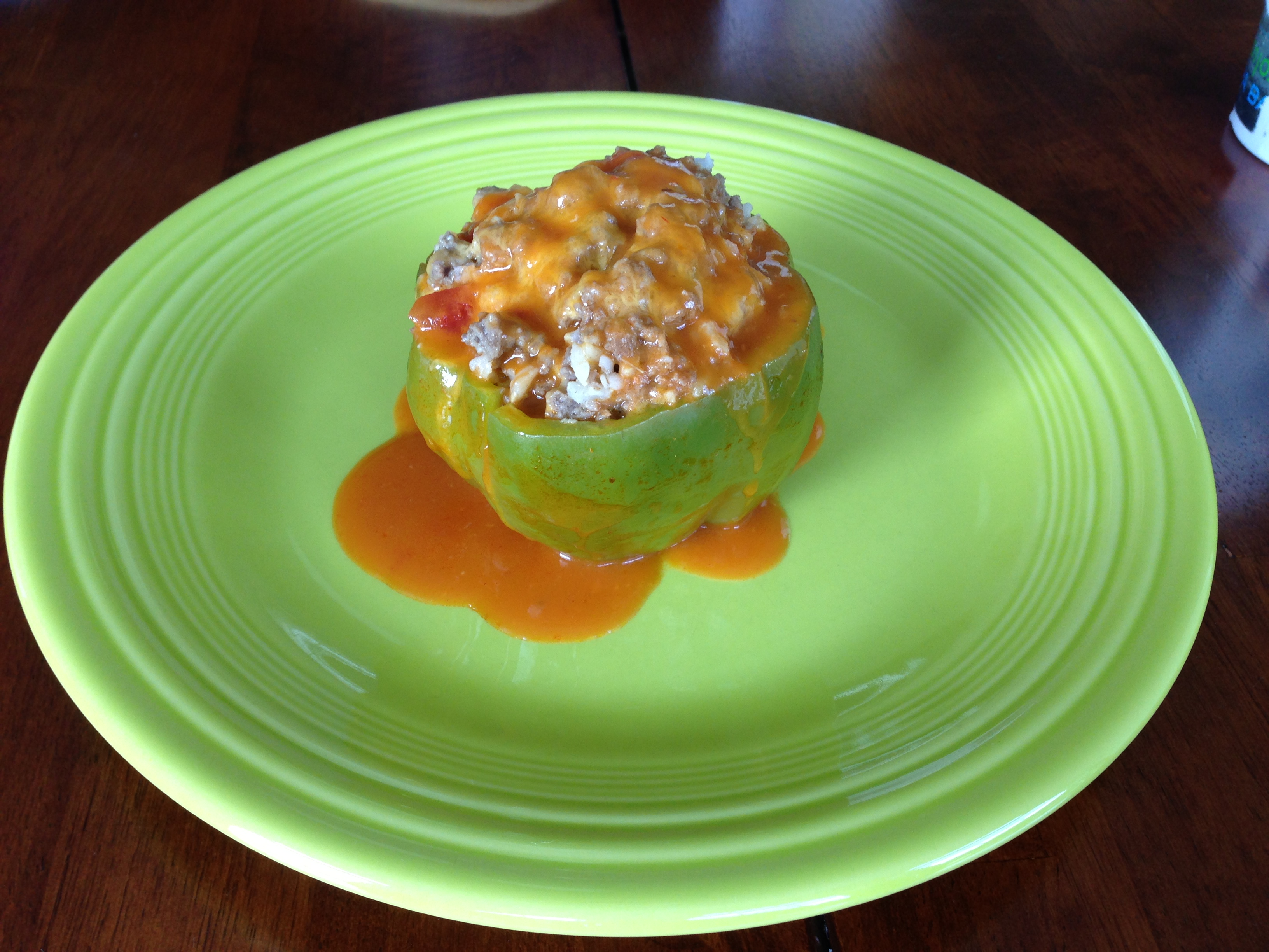 Hot Stuffed Green Peppers {Guest Post}