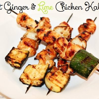 Sweet Ginger & Lime Chicken Kabobs