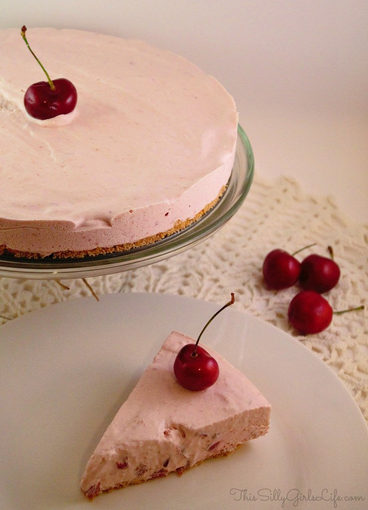 Cherry Icebox Cheesecake from http://ThisSillyGirlsLife.com