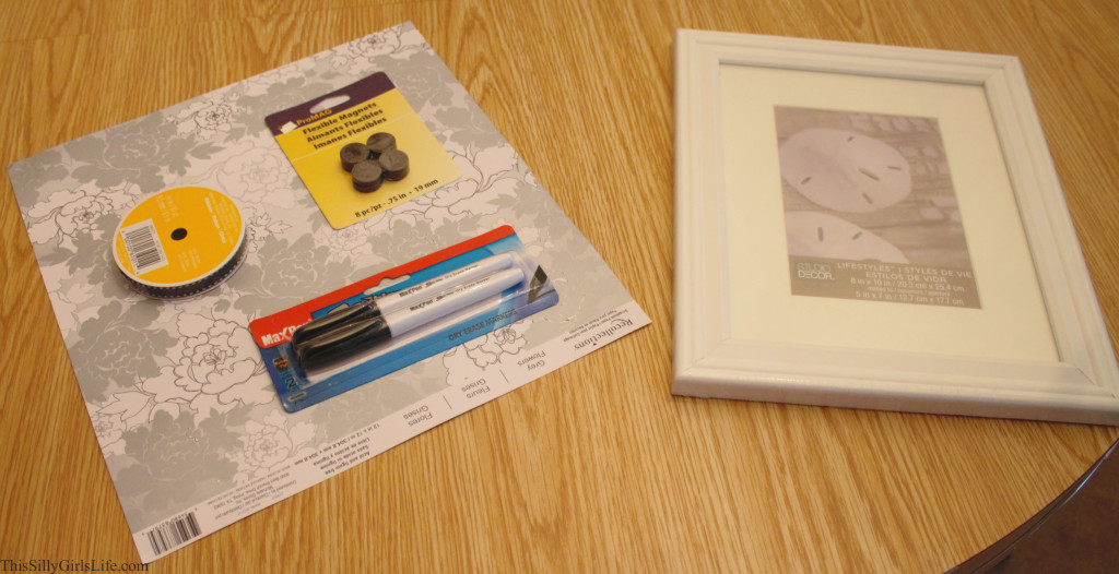 DIY Magnetic Dry Erase Board