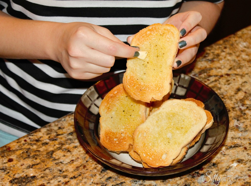 Bruschetta with Garlic Crostini recipe from http://ThisSillyGirlsLife.com