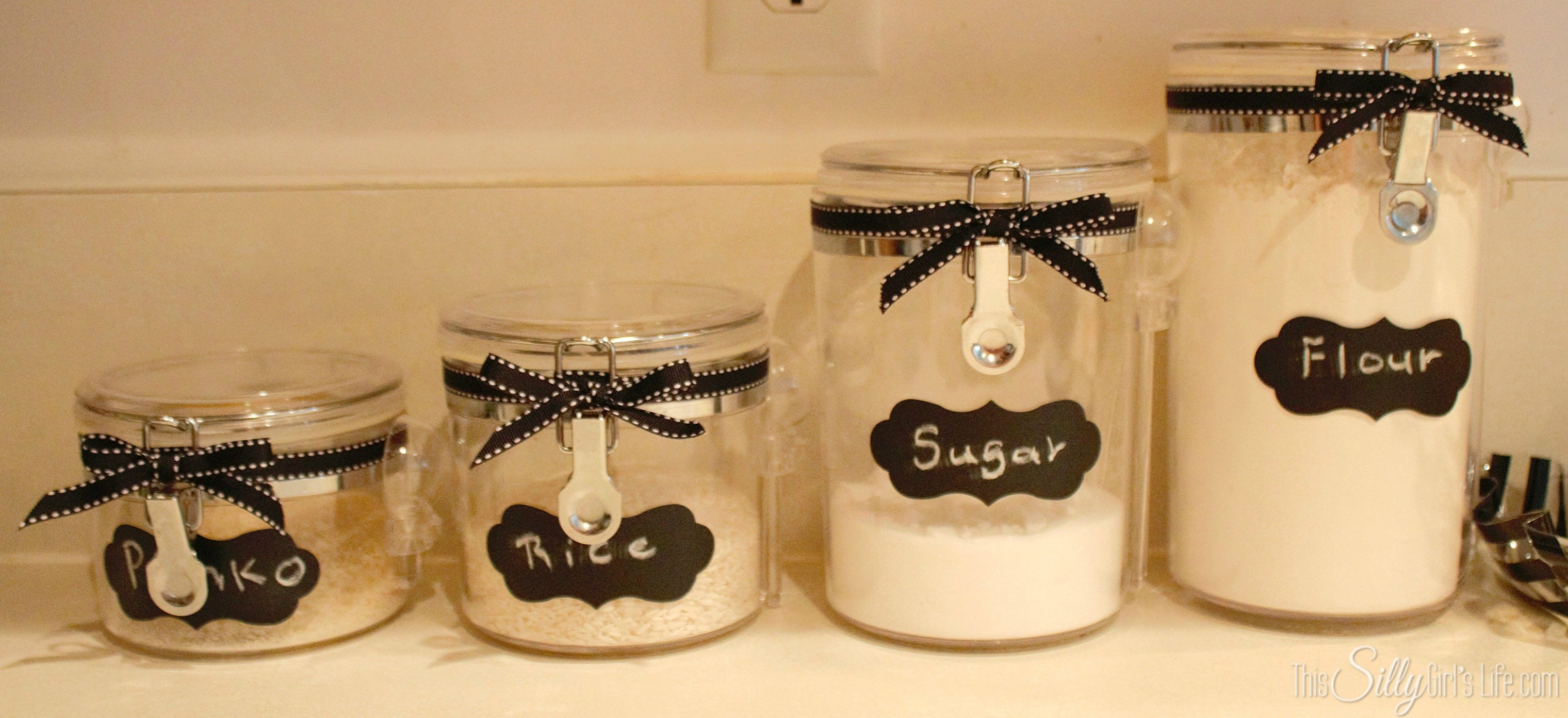 DIY Canister Re-Style - This Silly Girl\'s Kitchen