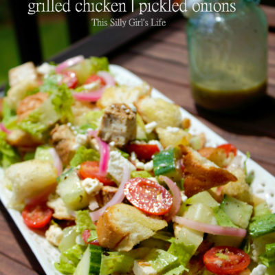 Greek Panzanella Salad with Homemade Greek Salad Dressing