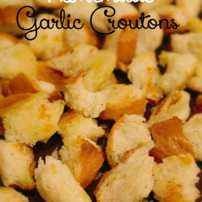 Homemade Garlic Croutons