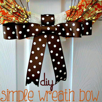 DIY Simple Wreath Bow