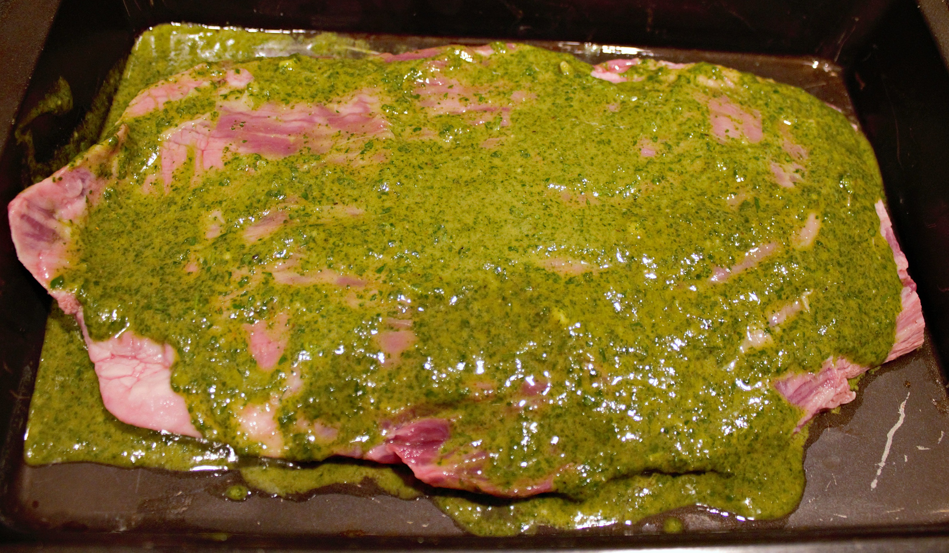 Cilantro-Lime Marinated Flank Steak with Homemade Chimichurri recipe ...