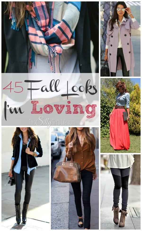 45 Fall Looks I'm Lovingfrom https://ThisSillyGirlsLife.com #Fall #Outfit #FallLooks #RoundUp