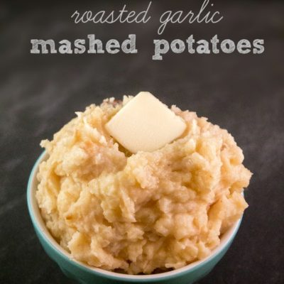 Slow Cooker Roasted Garlic Mashed Potatoes