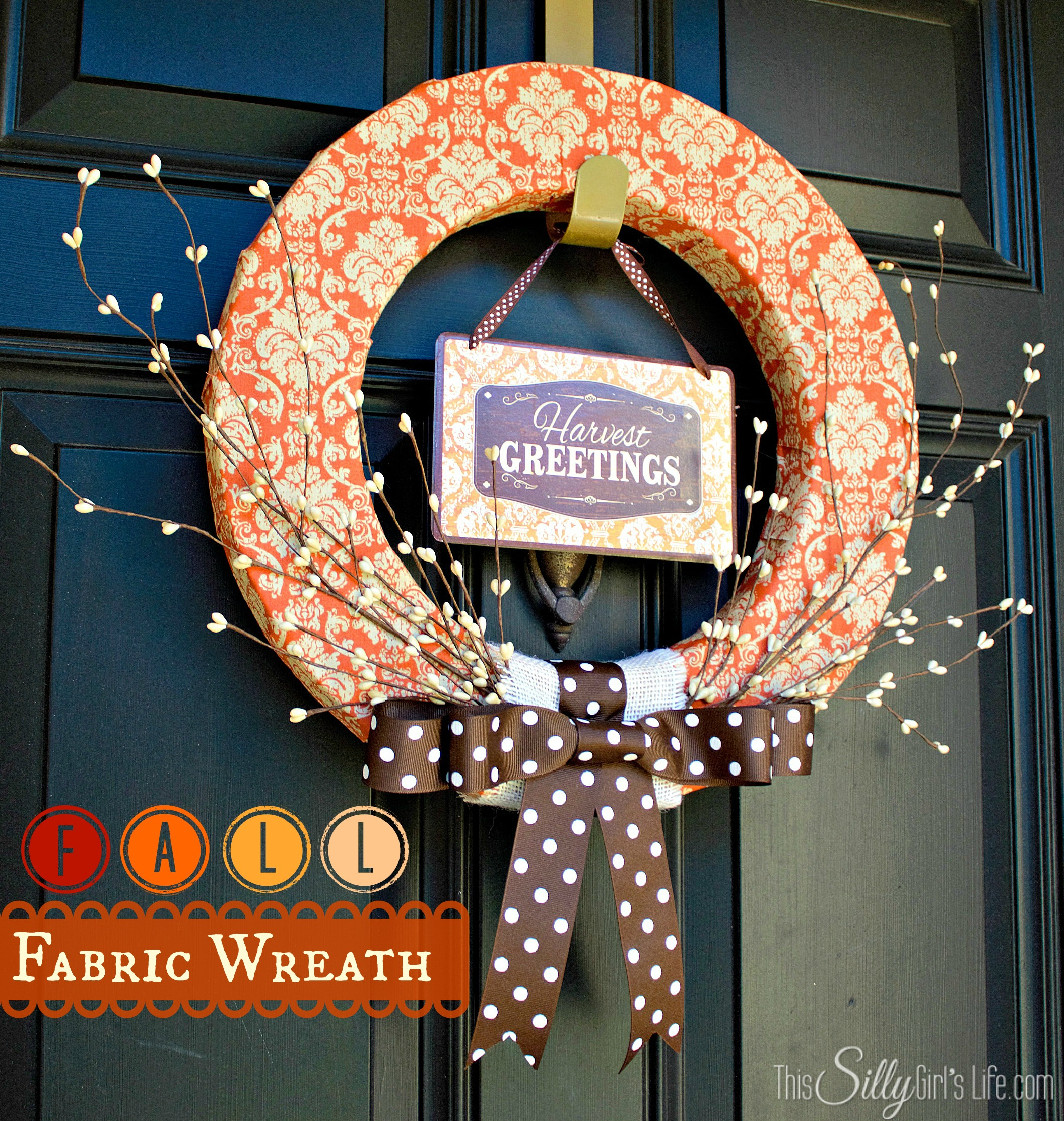 Fall Fabric Wreath