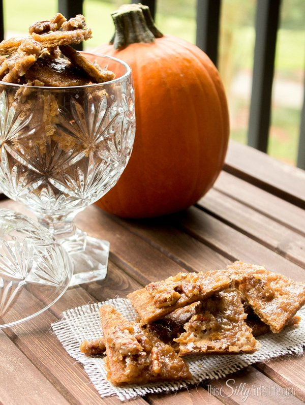Pumpkin Pie Spice Pralines recipe from https://ThisSillyGirlsLife.com #Pralines #PumpkinPieSpice #Easy