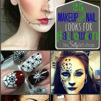 25 Makeup and Nail Looks for Halloween {The Weekly Round UP}
