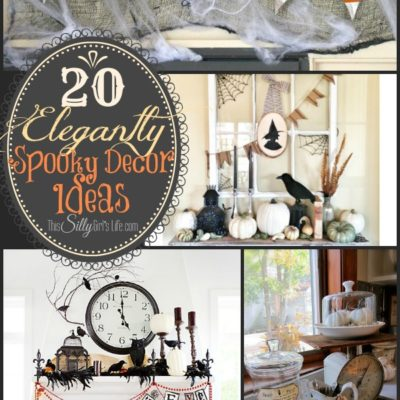20 Elegantly Spooky Decor Ideas {The Weekly Round UP}