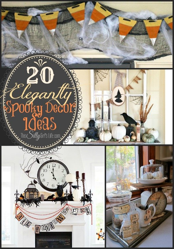20 Elegantly Spooky Decor Ideas {The Weekly Round UP} from http://ThisSillyGirlsLife.com #Halloween #DecorIdeas #RoundUp