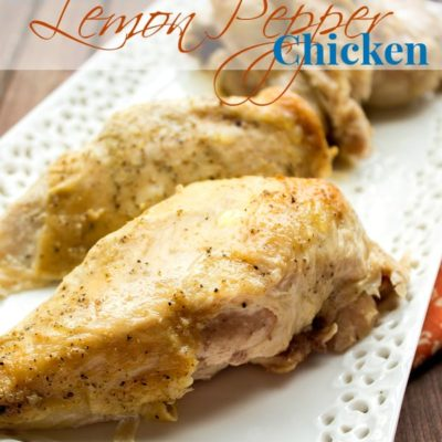 Slow Cooker Roasted Lemon Pepper Chicken