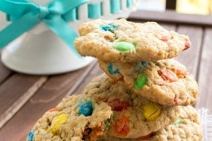 M&M's Oatmeal Cookies