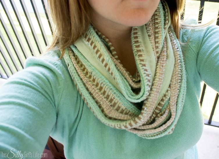 How To Fake an Infinity Scarf tutorial on httpThisSillyGirlsLife  How To Make An Infinity Scarf From Fabric