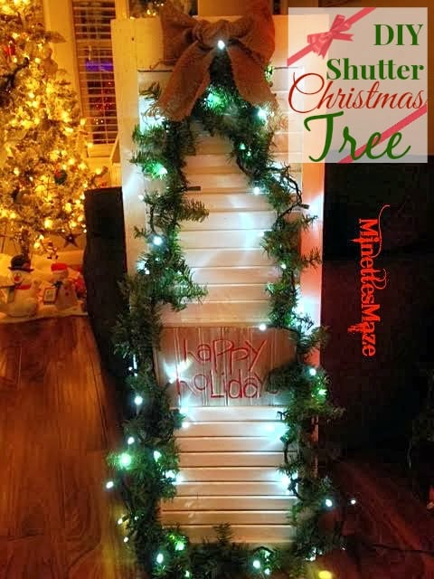 DIY Shutter Christmas Tree