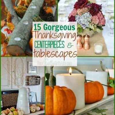15 Gorgeous Thanksgiving Centerpieces and Tablescapes {The Weekly Round UP}