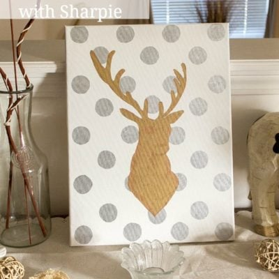 DIY Canvas Art with Sharpie