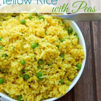 Yellow Rice with Peas {Using STAR Olive Oil}