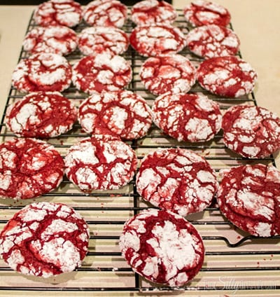 Red Velvet Sandwich Cookies with Cream Cheese Frosting. Easy to make with clear step by step instructions, oh and these are delicious!!