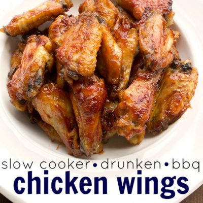 Slow Cooker Drunken Bbq Chicken Wings + Football Party Spread!