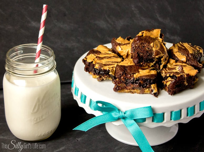Peanut Butter Drizzled Chocolate Overload Brownies #ValueSeekersClub