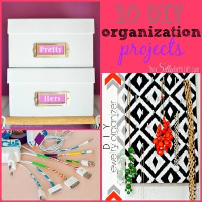 10 DIY Organization Projects {The Weekly Round UP}