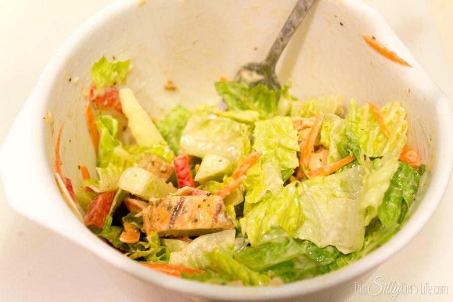 #ad Southwestern Chicken Caesar Pitas #JustAddTyson #cbias