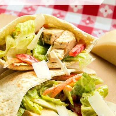 #ad Southwestern Chicken Caesar Pitas: Healthy Eating with Tyson