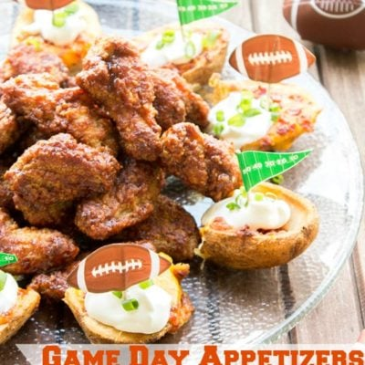 Game Day Appetizers: Potato Skins & Chicken Wings!