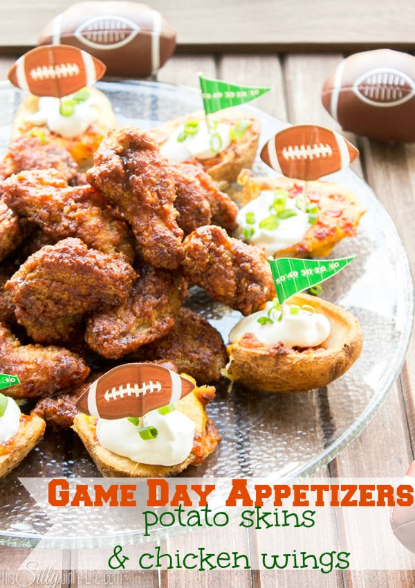 Game Day Appetizers: Potato Skins & Chicken Wings!#TGIFGameDay #CollectiveBias