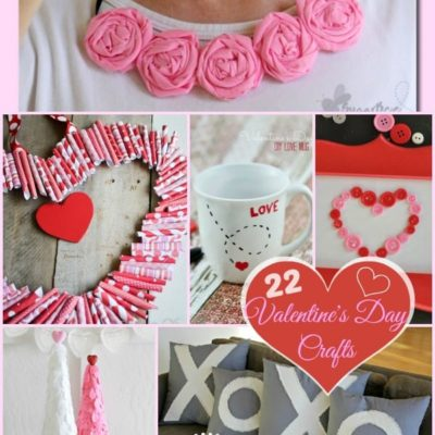 22 Valentine's Day Crafts {The Weekly Round UP}