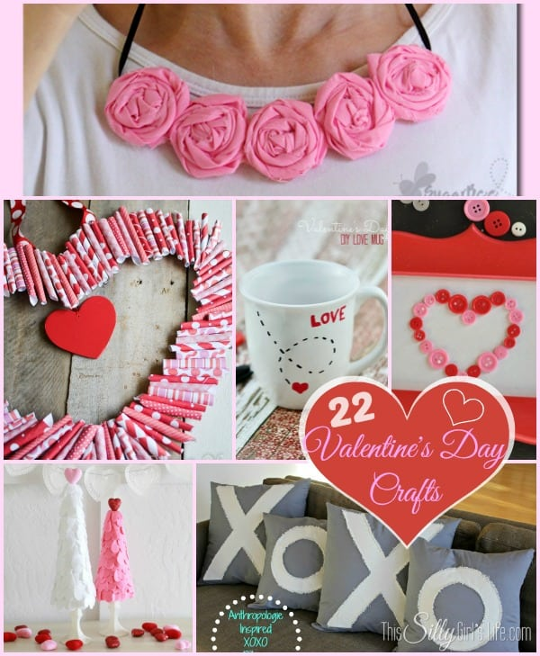 22 Valentine's Day Crafts Round Up