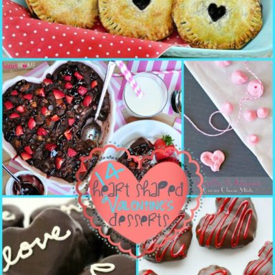 14 Heart Shaped Valentine's Desserts {The Weekly Round UP}