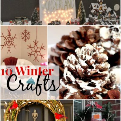 10 Winter Crafts { The Weekly Round UP}