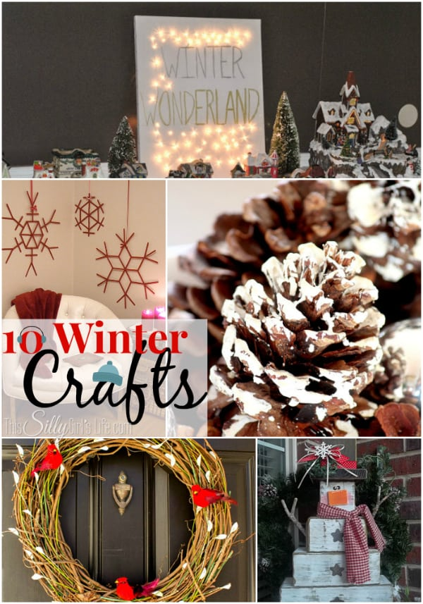 10 Winter Crafts, Down comes the tree and stockings but what goes up in it's place? Get inspired by this crafty round up!